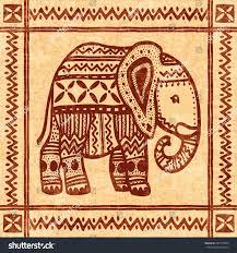 elephant tribal vintage ornamental vector stock vector