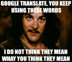 Translate Meme - google translate using these words you keep using that word i