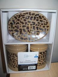 Cheetah Print Bathroom by Free Mainstays Leopard Cheetah Print Ceramic Bath Accessories Set