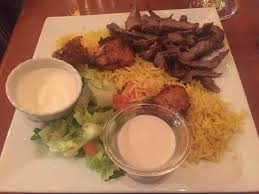 Dawali Mediterranean Kitchen Chicago - chicken shawarma and green tea with mint hits the spot that