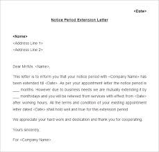 Confirmation Extension Letter Format 18 notice period letter templates free sle exle format