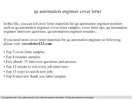 sample qa engineer resume automation engineer cover letter qa qc