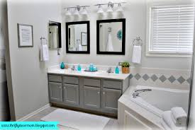 bathroom gray colors accent and white wall with tile ideas navpa2016
