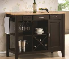 kitchen shining origami folding kitchen island cart with casters
