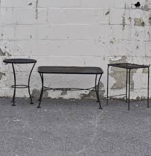 Wrought Iron Patio Side Table Wrought Metal Patio Side Tables Ebth