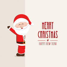 merry background with a smiling santa claus vector