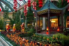 New Year Garden Decoration by Incredible Conservatory U0026 Botanical Gardens At Bellagio Christmas