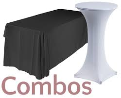 black display table cloth folding tables for sale commercial trade show event furniture
