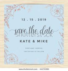 save date wedding invitation card template stock vector 451926772