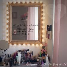Lamp For Makeup Vanity Diy Hollywood Inspired Makeup Table Mirror Lights Make Your Own