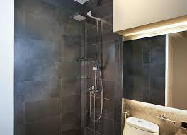 Grey Slate Tile Bathroom Hdb Toilet Grey Slate For The Home Pinterest Shower Heads