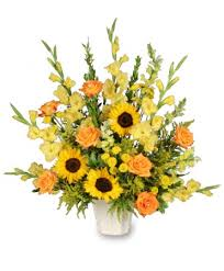 funeral arrangement golden goodbye funeral arrangement flower shop network