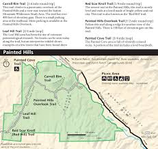 Oregon Trail Maps by John Day Fossil Beds Maps Npmaps Com Just Free Maps Period