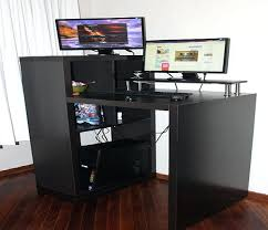 small stand up desk small modern computer desk modern computer desk black stand up