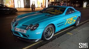 Slr 722 Interior Controversial Colours Mercedes Slr 722 Edition In Bright Blue