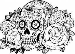 printable coloring pages sugar skulls free printable sugar skull coloring pages 20 free printable sugar