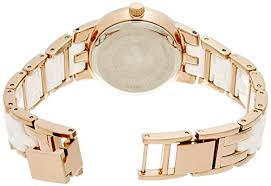 white ceramic bracelet images Anne klein women 39 s ak 1610wtrg diamond dial rose gold tone and jpg