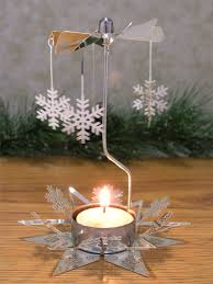 snowflake candle spinner rotating tea light candle