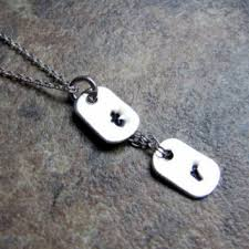 Personalized Dog Tags For Couples Belladonnajewelryco On Etsy On Wanelo
