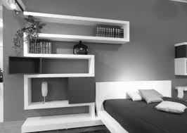 bedroom floating shelves above bed vinyl wall mirrors desk lamps