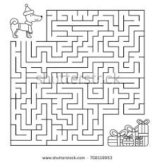 maze children looking stock vector 708119953