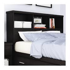 buy queen bookcase headboard finish black adler