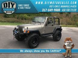 jeep wrangler garage jeep used cars for sale indianapolis diy garage