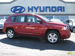 red jeep compass 2008 inferno red crystal pearl jeep compass sport 4x4 63723335