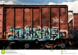 box car train box cars from a freight train with graffiti stock photo image