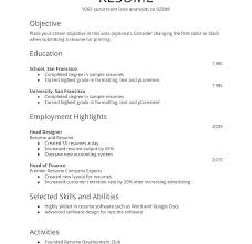 easy resume templates here are easy resume format goodfellowafb us