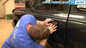 ford ranger door handle how to install replace broken outside door handle 93 03 ford
