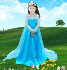 Frozen Costume Free Shipping Kids Dress 2014 Infantil Frozen Costume Elsa Dress