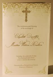 wedding program printing wedding program folded gold ink thermography with cross and