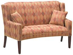 Curved Settees And Sofas by Fairfield Sofa Accents Curved Accent Settee Belfort Furniture