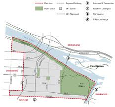 Calgary Map The City Of Calgary East Village Area Redevelopment Plan