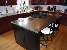 the turner cast zinc island countertop features a beautiful patina
