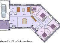 plan de maison en v plain pied 4 chambres modele de maison en v inspirational plan de maison en v beautiful