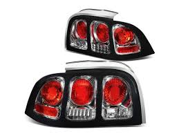 sn95 mustang tail lights for 94 98 ford mustang sn95 pair of chrome housing altezza tail