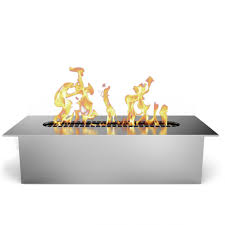 fire pit fire pit ethanol fireplace insert to gas log burner