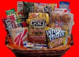 snack basket gifts baskets the pered professional ltd get well