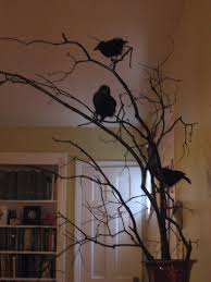 raven halloween decorations this item halloween black feathered