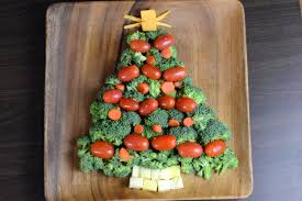 vegetable and cheese tree platter