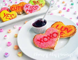 valentine u0027s day breakfast conversation heart toast hungry
