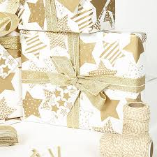gold white wrapping paper by