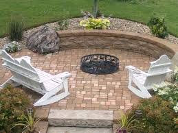 Patio Fire Pit Ideas Engaging In Ground Fire Pit At Inexpensive Plans Free Architecture