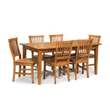 shop home styles arts u0026 crafts cottage oak 7 piece dining set with