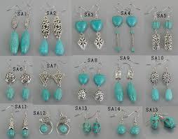 turquoise earrings 2017 turquoise earrings mix earring quality tibetan jewelry