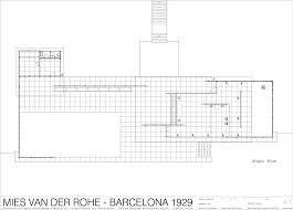 barcelona pavilion building design with computer
