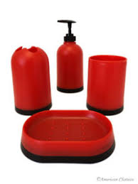 Red And Black Bathroom Accessories Sets Bathroom Accessory Sets