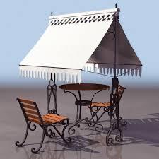ornamental garden furniture set 3d model 3ds files free